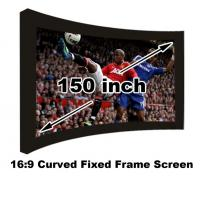 Buy cheap On Sale Curved Fixed Frame 16:9 Projection Screen 150 Inch For 3D Home Cinema Theater from wholesalers