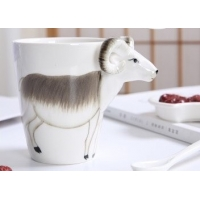 Buy cheap Three Dimensional Cattle 15 Ounce Painting Ceramic Mugs product