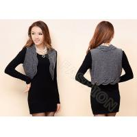 Buy cheap Womens Cable Knit Sweaters Sleeveless Grey Short Cardigan Vest Knitwear from wholesalers