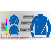 Buy cheap Customized 100 Cotton Contrast sweatshirt Mens Sport Tracksuits , Blue from wholesalers