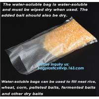 Buy cheap custom made colored soft PVA water soluble plasticfishing lure packaging, Bait Bags forFishing, dissolved in water fish from wholesalers