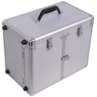 Buy cheap Rolling Makeup Hair Salon Stylist Train Case Clipper Trimmer Barber Tool Box Key from wholesalers