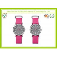 Buy cheap Pink Lovely Nylon Strap Watches Alloy Case For Girl / Students from wholesalers