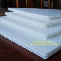 Buy cheap Corona treated 4mm thick 750gsm density white PP Corrugated Plastic / fluted polypropylene sheet for Signs boards from wholesalers