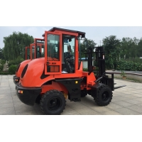Buy cheap 3 tons Rough Terrain Forklift Truck CPCY30 ,All Terrain Forklift 4x4 Forklift with Air condition, orange color from wholesalers