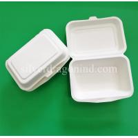 Buy cheap Disposable Biodegradable Sugarcane Pulp Paper Lunch Box ,600ml from wholesalers