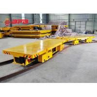 Buy cheap 20t Capacity  Large Bearing Steel Industry Warehouse Work Battery Transfer Cart For Material Handling from wholesalers