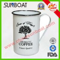 Buy cheap European Style Vintage Large Capacity Customized Logo Printed Cast Iron Enamel product