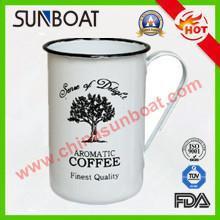 Buy cheap European Style Vintage Large Capacity Customized Logo Printed Cast Iron Enamel Coffee Deep Mug product