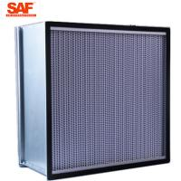 Buy cheap Cleanroom Deap Pleated Hepa Filter , 0.3 Micron Hepa Filter With Paper Foil Separater from wholesalers
