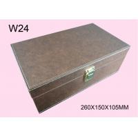 Buy cheap Customized Brown Wooden Cosmetic Packaging Box, Wood Gift Boxes With Logo from wholesalers