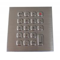 Buy cheap 19 Keys Water Proof Metal Keypad Stainless Steel PS2 USB RS232 RS485 available from wholesalers