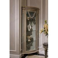 Buy cheap Luxury Home Furniture Livingroom Glass Cabinet Single Door Handcarved Decorative Cabinet Solid Wood Corner Wine Cabinet from wholesalers