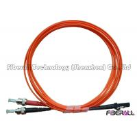 Buy cheap Dual Core MTRJ To ST Fiber Optic Jumper Cables With Multimode Orange Optical Cable from wholesalers