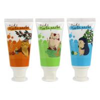 Buy cheap Kids Toothpaste Plastic Cosmetic Tubes 3g Blue Labeling Round White Flip Cap from wholesalers