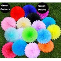 Buy cheap Paper folding fan wedding party decoration background paper fan flower color by pantone coloring from wholesalers
