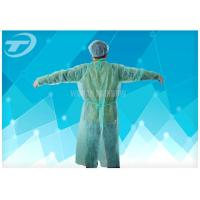 Buy cheap Medical Lab Breathable Disposable Scrub Suits Non woven With Shirt Collar Knitted Cuff from wholesalers