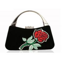 Buy cheap Women ' S Velvet Embroidered Evening Bag Rhinestone Adorned For Wedding Party from wholesalers