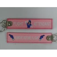 Buy cheap Flight Attendant Pilot Cabin Crew Tags Remove Before Flight Embroidery Keychain Keyring Key Ring Key Chain Key FOB from wholesalers