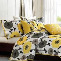 Buy cheap 100% Cotton Fantastic Floral Patchwork Quilt Set For Home Decoration from wholesalers