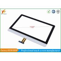 Buy cheap White Projected Advertising Touch Screen Panel 23.6 Inch Finger / Touch Pen Input product