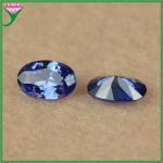 Buy cheap china cheap wholesale 4*6mm dark blue oval cut lab created imitation tanzanite from wholesalers