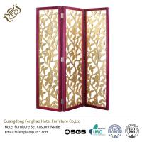 Aluminum Folding Partition Screens Hinges Solid Wood 3 Panel Room Divider