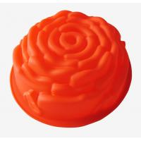 Buy cheap fondant rose Silicone Cake Moulds baking pan chef tools for promotion gift from wholesalers