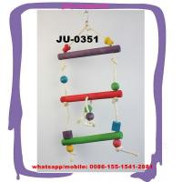 Buy cheap Colorful natural dye small hanging wooden swing ladder bird play bite pet toys JU-0351 from wholesalers
