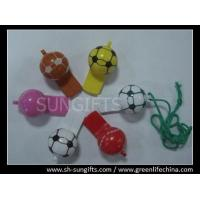 Buy cheap Cheap football shape whistles with different colors from wholesalers