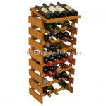 Buy cheap Custom Wine Display Stand Wine Shop Retail Advertising Wood Floor Wine Rack from wholesalers