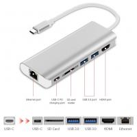 Buy cheap USB C Hub USB Type C 3.1 Adapter Dock with 4K HDMI PD Charge for MacBook Ethernet Adapter from wholesalers