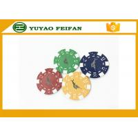 Buy cheap Casino Borad Game 11.5 Gram Customised Poker Chips With Foil Stamping Sticker from wholesalers