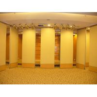 Buy cheap Removable Banquet Hall Sliding Partition Walls , Melamine Surface Wood Interior Room Dividers from wholesalers