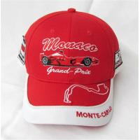 Buy cheap Kid Grand Prix Monaco Red Racing Baseball Style Mens Velcroback Hat Cap Monte Carlo Adjustable Size from wholesalers