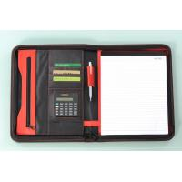 business file folder with calculator