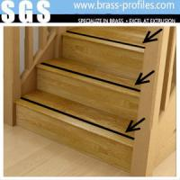 Buy cheap Brass Stair Nosing Brass Anti Slip Extruding Stair Edge Protection from wholesalers