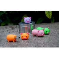 Buy cheap 32gb usb 2.0 flash drive , novelty usb flash drive PVC memory stick pig character for kids from wholesalers