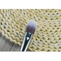 Wooden Handle Synthetic Fiber Foundation Brush / Angular Makeup Brush