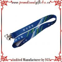 Buy cheap heat transfer print lanyard with metal hook from wholesalers