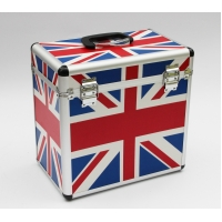 Buy cheap LP 50pcs DVD case Alu storage box with Union jack flag pattern large space for records from wholesalers