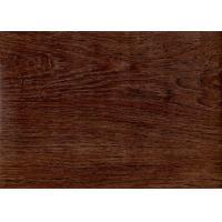 Dark Wood Grain PVC Vinyl Flooring 5mm For Office / Shopping Mall Eco - Friendly