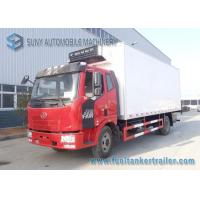 Buy cheap 180 HP FAW J6 4x2 Refrigerator Van Truck Load 10T Box Volume 30 Cubic from wholesalers