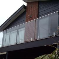 Buy cheap New Modern Home Decoration l glass Railing with stainless steel base from wholesalers