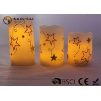 Buy cheap Outdoor / Indoor Real Wax Led Candles Wireless With Star Shape from wholesalers