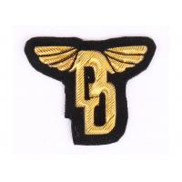 Buy cheap Customized Gold Machine Embroidered Badges For Goverment , Military Cap Badges from wholesalers