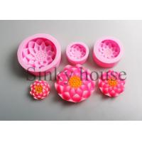 Buy cheap Custom Made Pink Clay Cylinder Silicone Candle Molds Non - Sticking from wholesalers