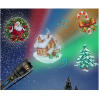 Buy cheap Christmas Indoor Super Bright LED Flashlight , Handheld Projector Black Blue from wholesalers