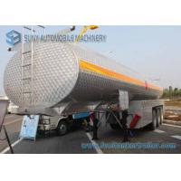 Buy cheap 35000L Alcohol Tanker 3 Axles SUS304 Chemical  Liquid Tank Trailer from wholesalers