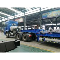 Buy cheap 3 axles low bed trailer 100 ton Front Loading lowbed trailer for sale | CIMC TRAILERS from wholesalers